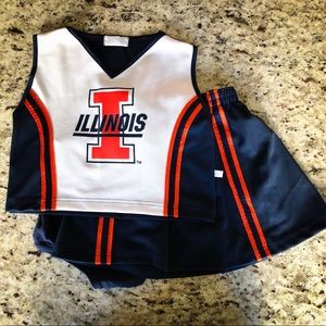 Other - University of Illinois 3 piece Cheerleading Outfit